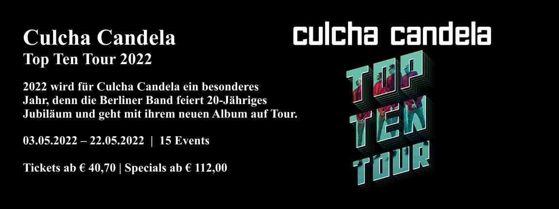 Culcha Candela - Top Ten Tour
