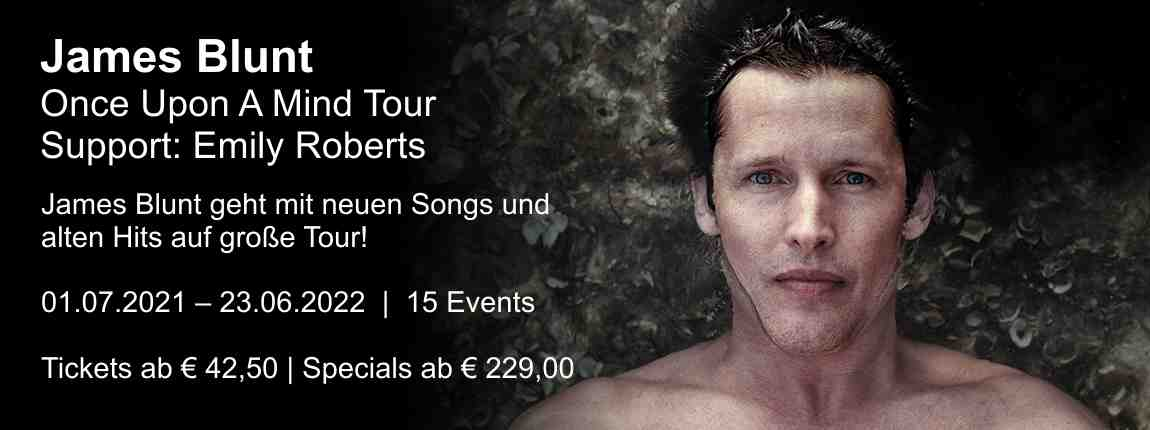 James Blunt - Once Upon A Mind Tour 2020