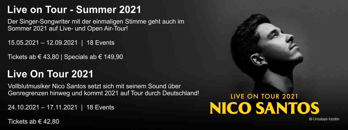 Nico Santos - Live on Tour 2021
